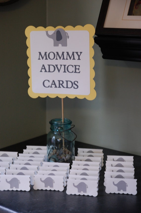 Sweet image for mommy advice cards printable