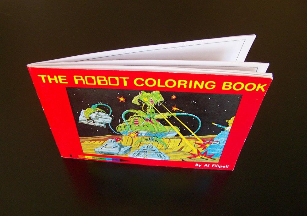 Leahs Farm Coloring Book : Vintage childrens coloring book the robot