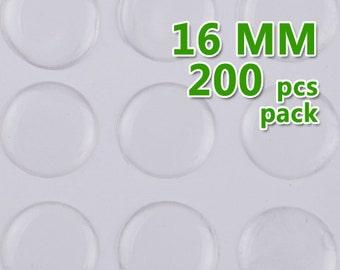 200pcs 16mm Round Clear Epoxy Stickers,epoxy resin,epoxy Domes,thick about 1.3mm,epoxy cabochon,transparent C1899
