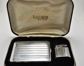 MAKE Me an OFFER Rare 1930s Art Deco Ronson De-Light Cigarette Case and Princess Lighter Set in original box