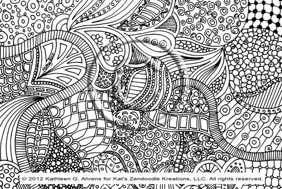 shelly beauchamp zen tangles coloring pages | Unavailable Listing on Etsy