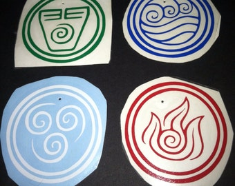 Avatar: The Last Airbender Elements Vinyl Decal Set