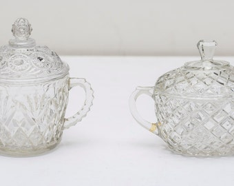 Glass Candy Dish or Sugar Bowl