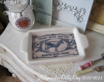 Fresh Butter Tray Dollhouse Plate