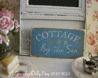 Cottage by the Sea Sign/Print for Dollhouse