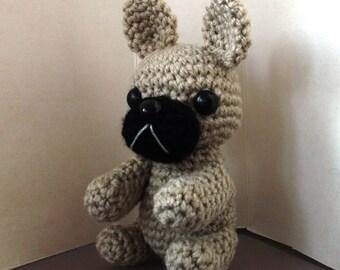 crochet amigurumi french bulldog toy