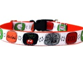 "Halloween Dog Collar 3/4"" or 1"" Fun Dog Collar"