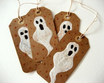 Ghost gift tags - set of 4