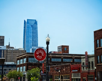 Oklahoma City - Neon Sign - Buildings - Automobile Alley - Architecture - Downtown - Automobile Alley Skyline
