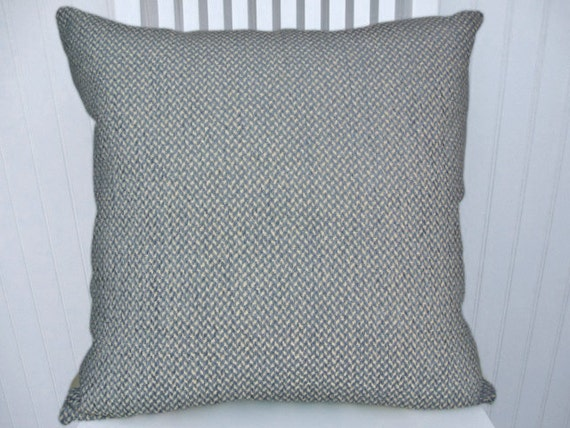 Blue Chenille Decorative Pillow Cover by CodyandCooperDesigns
