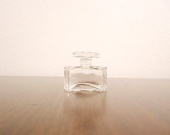 ART DECO Clear Glass Petite Perfume Bottle
