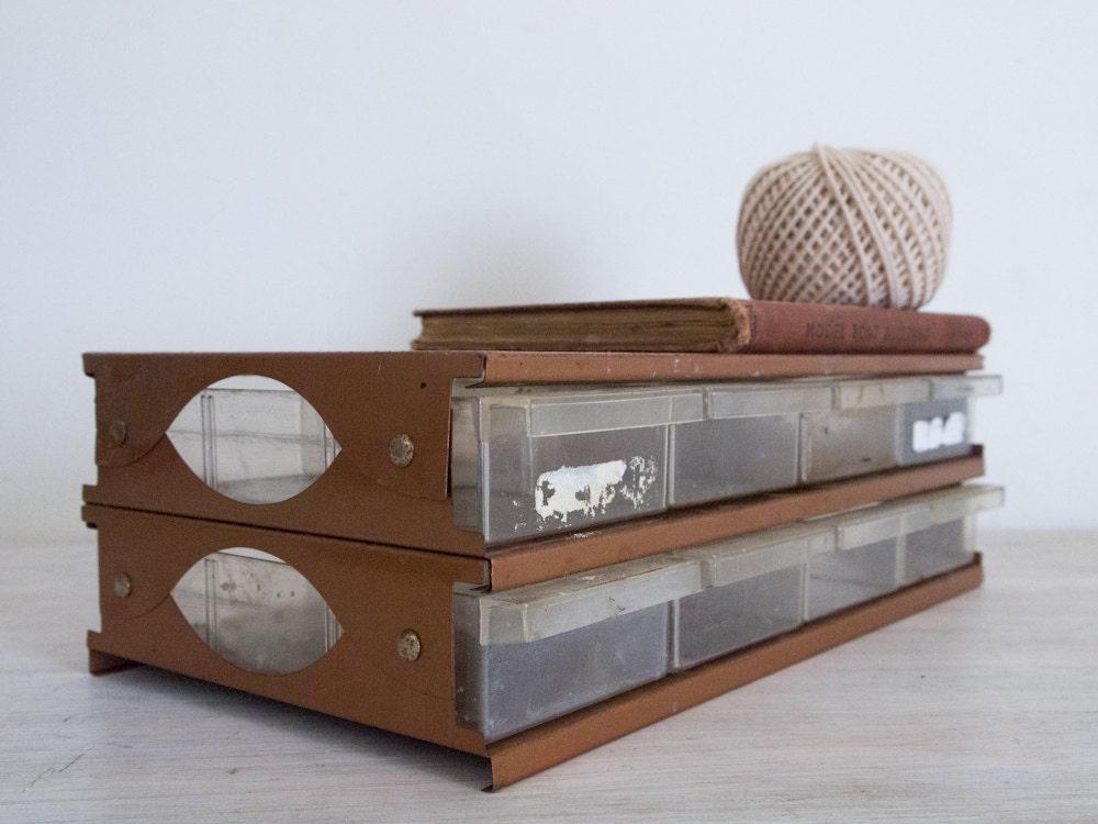 vintage industrial copper metal storage cabinets with 8. Black Bedroom Furniture Sets. Home Design Ideas