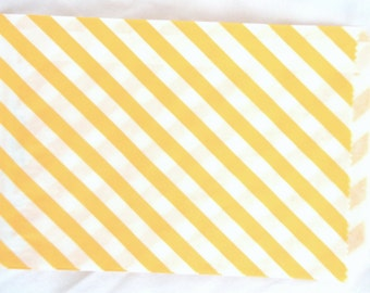 Yellow Paper Bags-medium sized-party favors--gifts---weddings--showers--24ct