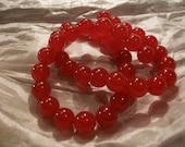 Round Red Ruby Gemstone Beads  10MM