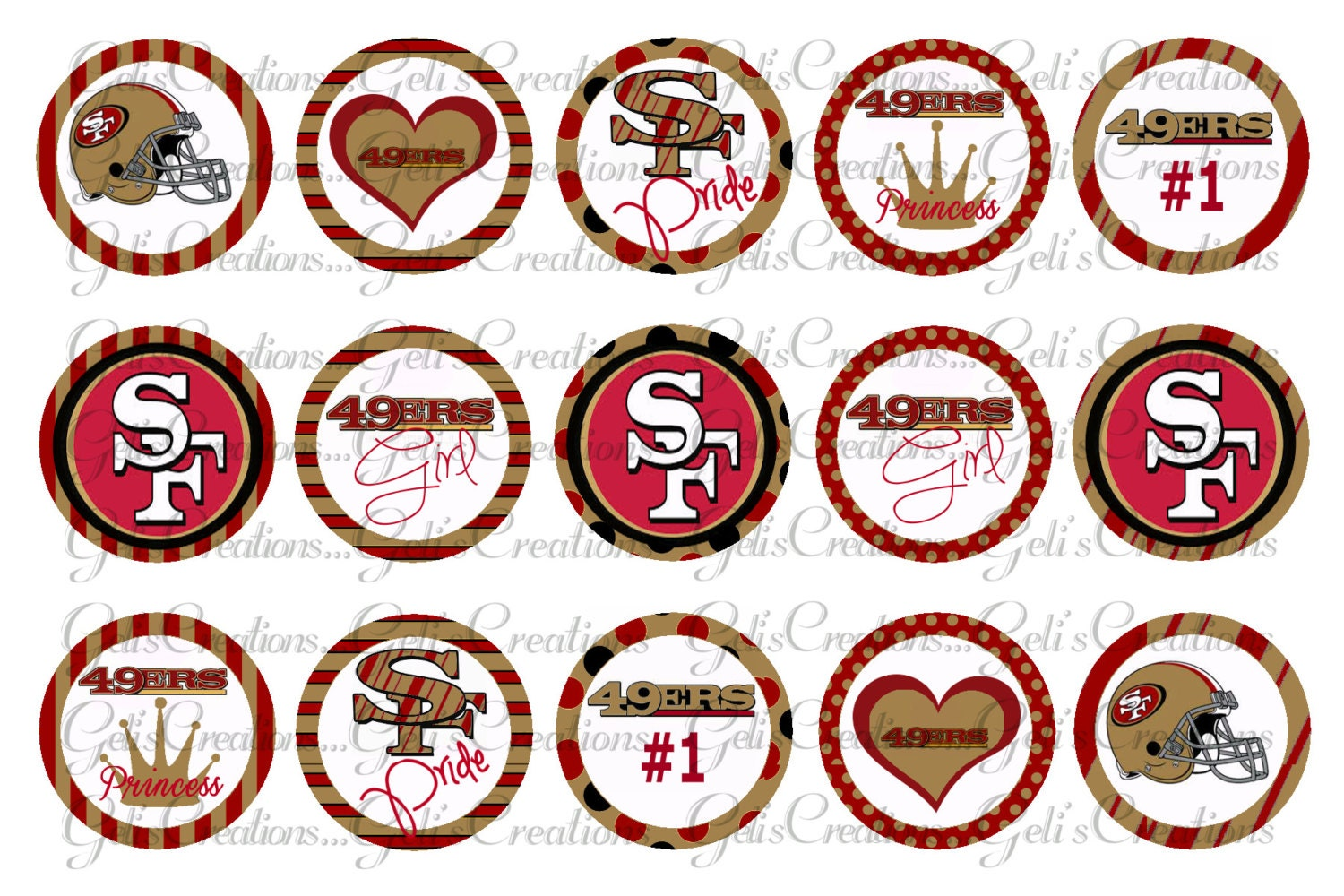 san francisco 49ers inspired 1 digital image sheet for