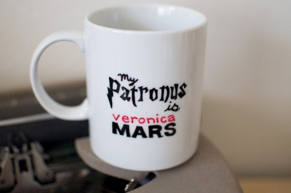 My Patronus is Veronica Mars Hand Painted Mug
