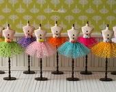 Anniedollz Blythe Ballet Skirt 8 Colors Rainbow Dot Tutu