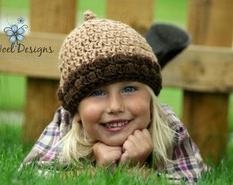 Acorn Hat-  Photo Prop- acorn beanie- kids acorn hat- crochet acorn hat- handmade acorn hat- acorn photo prop- newborn acorn hat- baby acorn