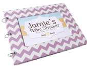 Baby Shower Guest Book - Lavender Chevron