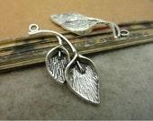10 pcs 15x38mm Antique silver 3D calla lily flowers charms pendants fc92865
