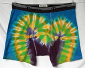 Boxer Briefs X-Large Peacock Blue Golden Yellow Lime Green Lilac Purple 2tiedye4