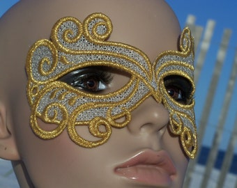 Stunning Silver and Gold Bridal Mask