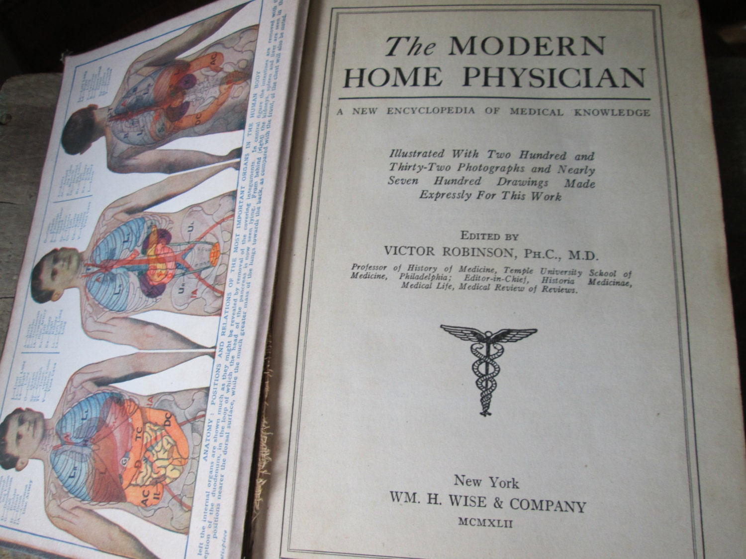 1942 Vintage Book The Modern Home Physician By
