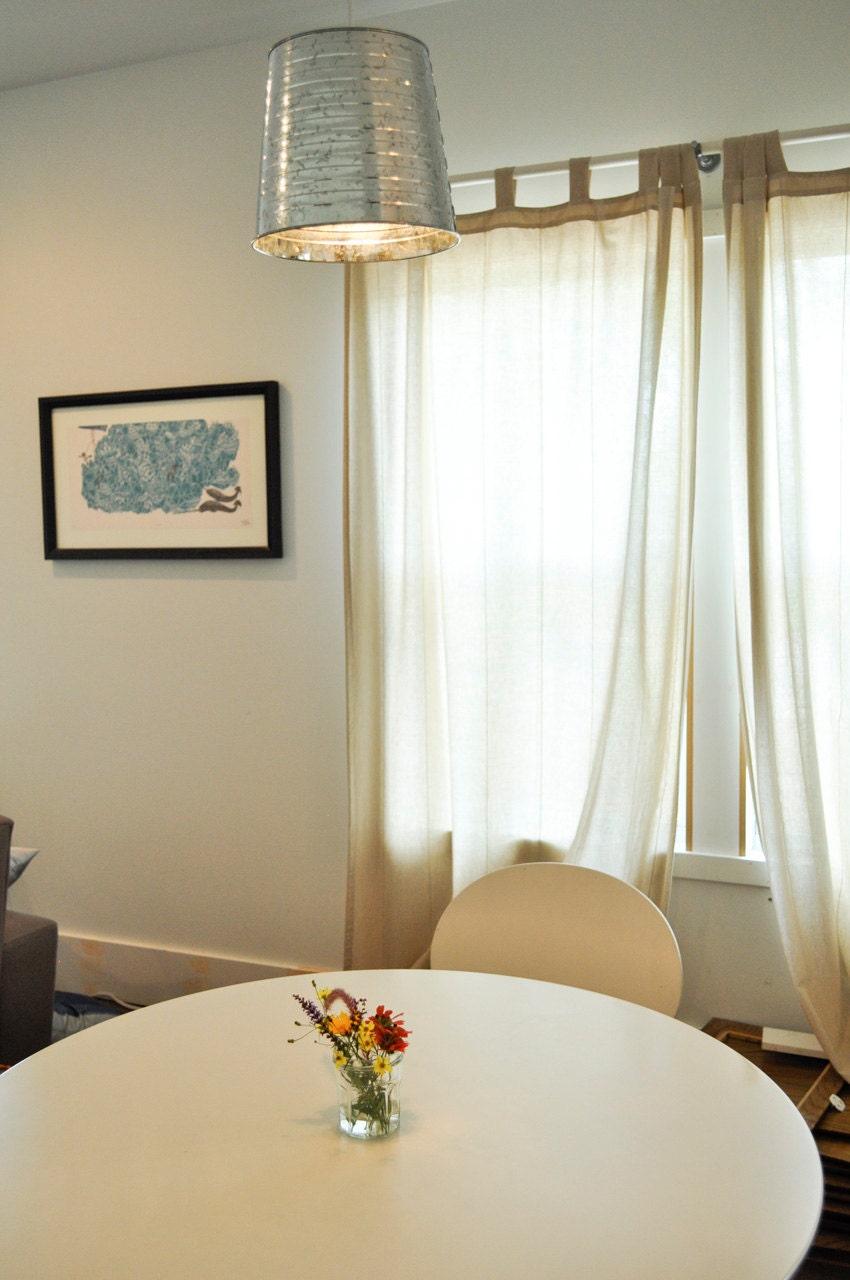 galvanized bucket pendant light fixture. Black Bedroom Furniture Sets. Home Design Ideas