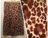 Vintage 50s JD pencil skirt leopard M-L