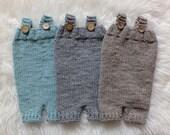 Newborn Short Overalls, Photo Prop, Mint, Grey, Choose Your Color, Photo Prop