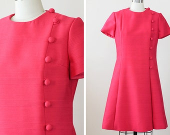 SALE 1960s Party Dress / 60s Pink Dress // In the Pink Dress