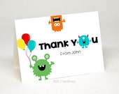 Personalized Monster Thank You Card - DIY Printable Digital File