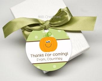 Personalized Pumpkin Favor Tag - DIY Printable Digital File