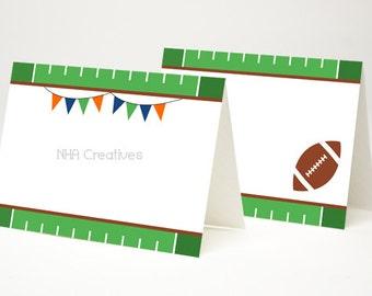 Football Place Cards - DIY Printable Digital File