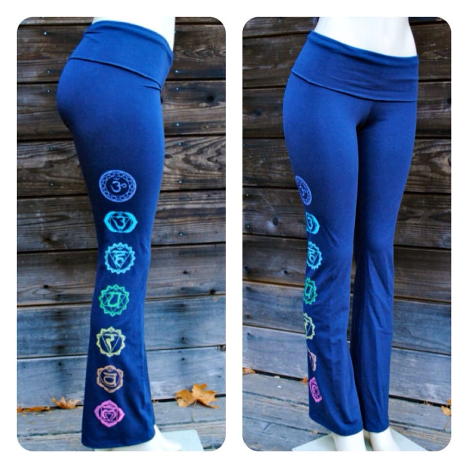 BOLD CHAKRAS Yoga Pant By GrizzyLove On Etsy