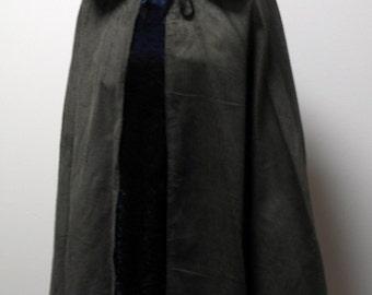 New black Corduroy Cloak - Legoslas/Frodo/Lord Of The Rings/LOTR/Pirate