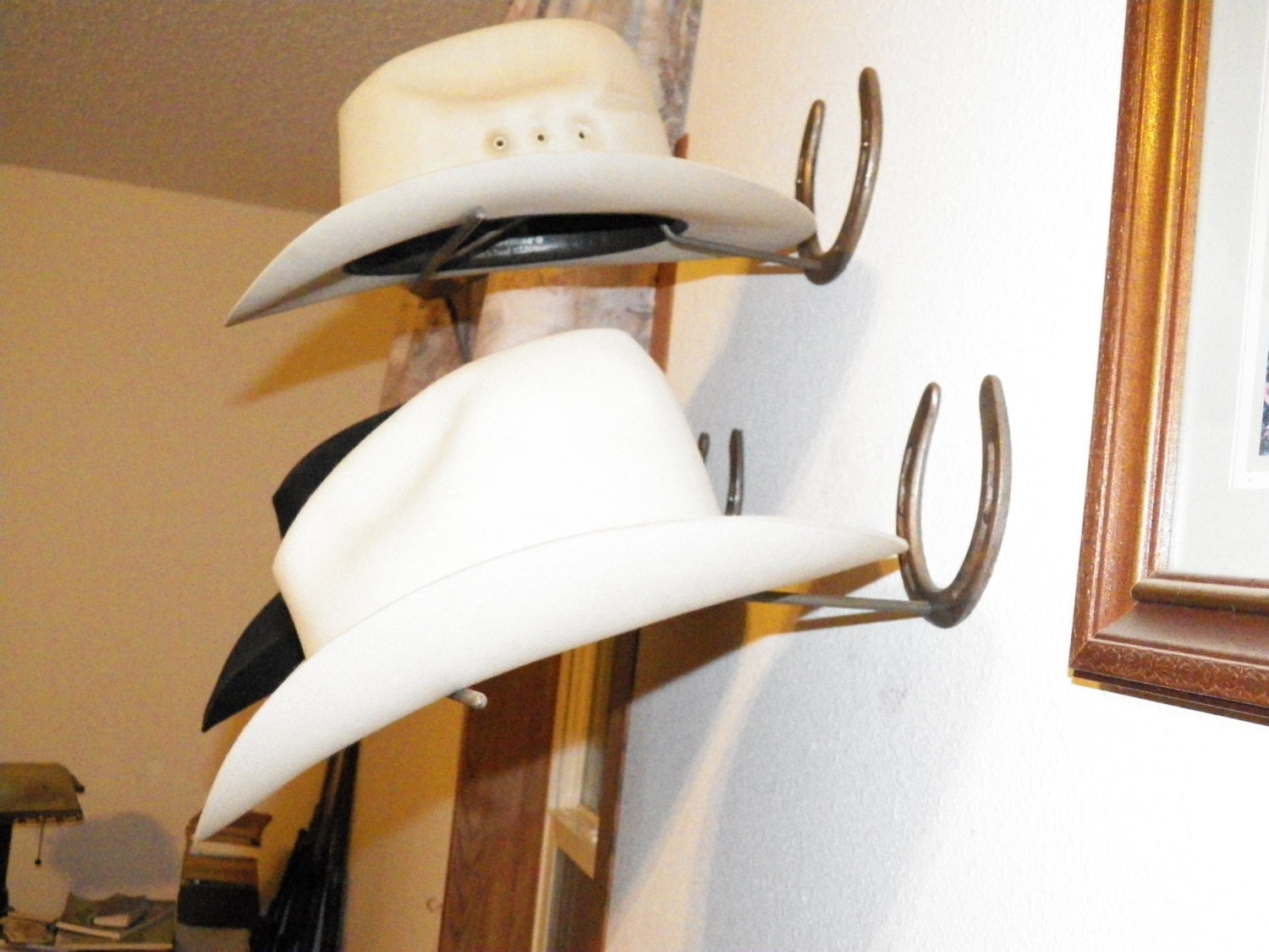Custom Horseshoe Cowboy Hat Rack made from Your Favorite