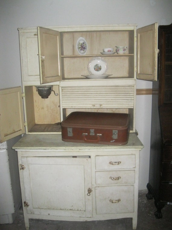 Items Similar To Reduced Price Hoosier Cabinet Vintage