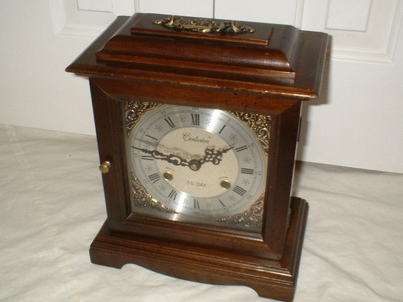 Vintage Centurion 35 Day Chiming Mantel Clock - Bracket, Cabinet, Mantle, Shelf - Chimes on Two Rods, Professionally Restored, Mvmt Serviced