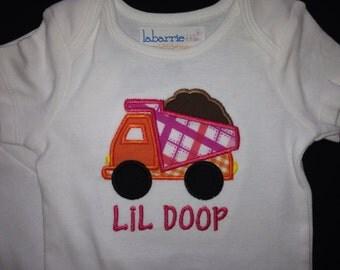 Girls Dump Truck Shirt (or BOY)