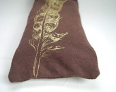 Lavender Eye Pillow - Organic Cotton and Bamboo -  Screen Printed with Original Artwork