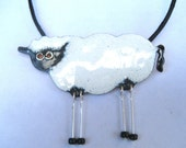 Dangly Sheep pendant and Green Meadow pendant reserved for Evon