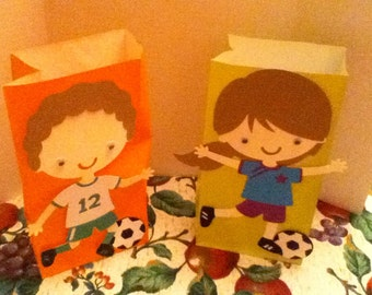 Cute Soccer Player Goody Bags