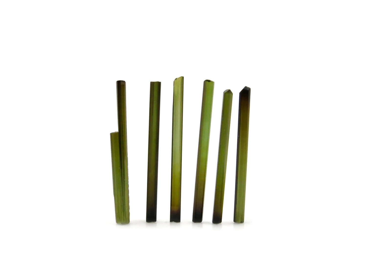 Green Tourmaline Needles from Brazil