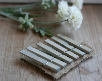 LaRgE hand stained wood clothespins, FrEnCh BLue, rustic wedding favor, vintage style wedding favor, baby shower favor