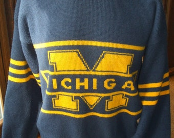 University of Michigan Wolverines Vintage Cliff Engle Sweater XL