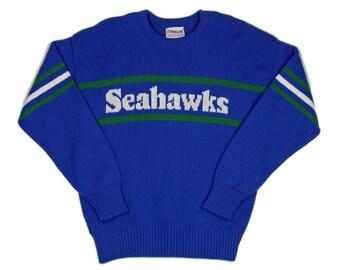 Seattle Seahawks Vintage Cliff Engle Sweater XL