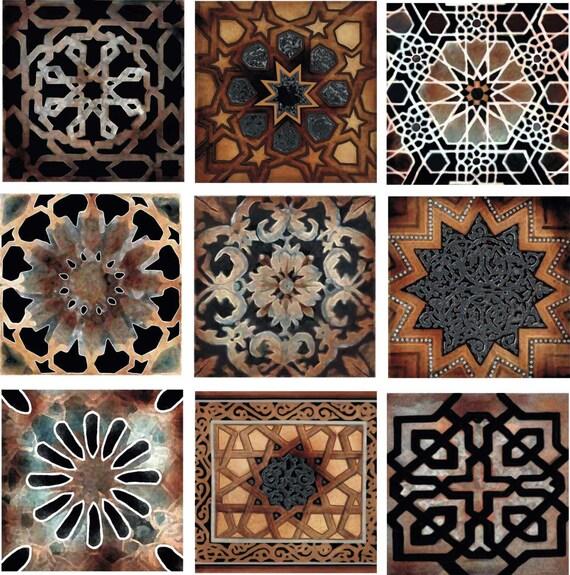 Decorative Tiles For Bathroom Backsplash : Old world decorative tile set backsplash ceramic artistic