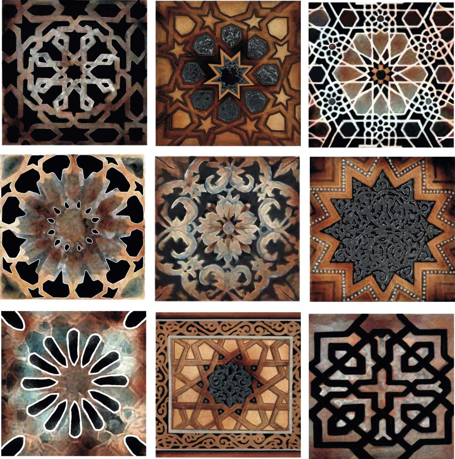 Old world decorative tile set backsplash ceramic artistic tile for Teli decorativi