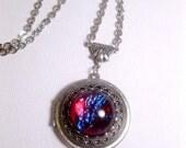 Dragons Breath Locket - Opal Necklace - Geekery - Galaxy Locket Necklace